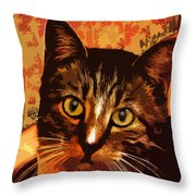 Silly Cat Throw Pillow
