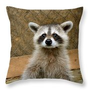 Silly Girl Throw Pillow