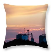 Silos At Dusk Throw Pillow