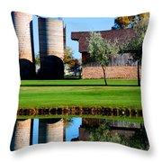 Silos On The Green Throw Pillow