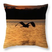 Silouette On The Lake Throw Pillow