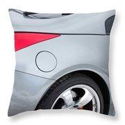 Silver 350z Nissan Throw Pillow