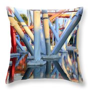 Silver Bullet Over Reflection Lake Throw Pillow