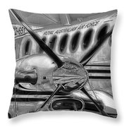 Silver Care Throw Pillow