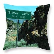 Silver City Nevada Throw Pillow