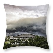 Silver Clouds V2 Throw Pillow