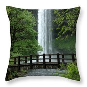 Silver Falls 2 In Oregon Throw Pillow