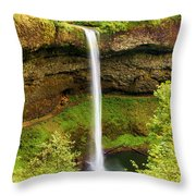 Silver Falls South Falls Throw Pillow