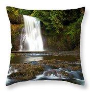 Silver Falls Waterfall Throw Pillow