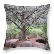 Silver On Trunk Throw Pillow