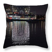 Silver Reflections Throw Pillow
