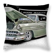 Silver Street Rod Hdr Throw Pillow