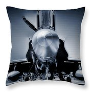 Silver Strikefighter Throw Pillow