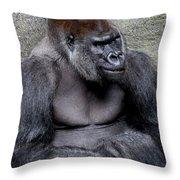 Silverback Smile Throw Pillow