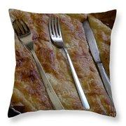 Silverware Tart Throw Pillow