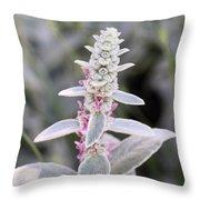 Silvery Garden Throw Pillow