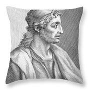 Simone Martini (c1283-1344) Throw Pillow