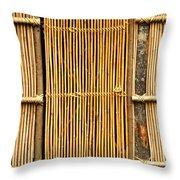Simple Bamboo Door Throw Pillow