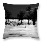 Simple Trees Throw Pillow by Empty Wall