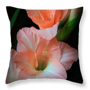 Simply Glad Throw Pillow by Karen Wiles