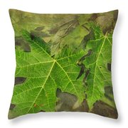 Simply Summer Maple Leaves Throw Pillow