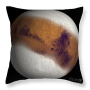 Simulated View Of Mars Throw Pillow