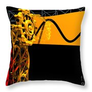 Sine Wave Machine Landscape 2 Throw Pillow