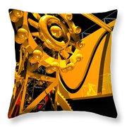 Sine Wave Machine Portrait 6 Throw Pillow