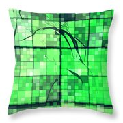 Sinful Geometric Green Throw Pillow