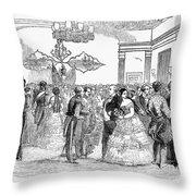 Singapore: Ball, 1854 Throw Pillow