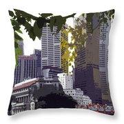 Singapore ... The Lion City  Throw Pillow