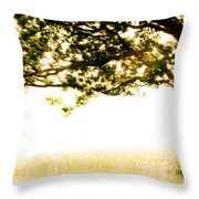 Single Tree In Motion Throw Pillow
