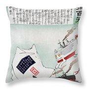 Sino-japanese War, 1895 Throw Pillow