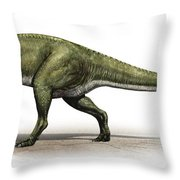 Sinraptor Dongi, A Prehistoric Era Throw Pillow