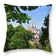 Sintra National Palace Throw Pillow by Carlos Caetano