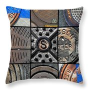 Sinuous Sewers Throw Pillow