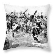 Sioux Ghost Dance, 1890 Throw Pillow