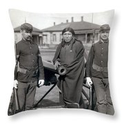 Sioux Warrior, 1891 Throw Pillow