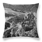 Sir Henry Morton Stanley (1841-1904). English Journalist And Explorer; Wood Engraving, 1880 Throw Pillow