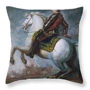 Sir Jeffrey Amherst Throw Pillow by Sir Joshua Reynolds
