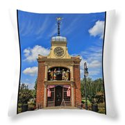 Sir John Bennett Clock Shop Throw Pillow