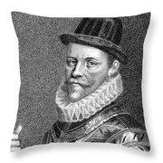Sir John Hawkins (1532-1595) Throw Pillow