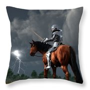Sir Lightning Rod Throw Pillow