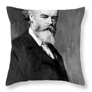 Sir Oliver Joseph Lodge Throw Pillow