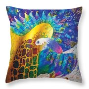 Sirin The Bird Throw Pillow