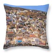 Siros Greece 2  Throw Pillow