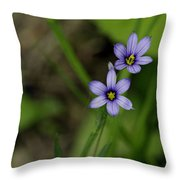 Sisters Of The Purple Plants Throw Pillow