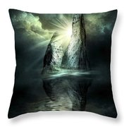 Sisters Throw Pillow by Svetlana Sewell