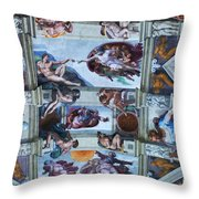 Sistine Chapel Ceiling Throw Pillow
