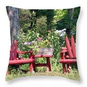 Sit For Awhile Throw Pillow